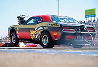 Oct 20, 2019; Ennis, TX, USA; NHRA factory stock driver Leah Pritchett during the Fall Nationals at the Texas Motorplex. Mandatory Credit: Mark J. Rebilas-USA TODAY Sports