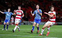 Blackpool's Ryan Hardie reacts to missing a good chance<br /> <br /> Photographer Alex Dodd/CameraSport<br /> <br /> The EFL Sky Bet League One - Doncaster Rovers v Blackpool - Tuesday September 17th 2019 - Keepmoat Stadium - Doncaster<br /> <br /> World Copyright © 2019 CameraSport. All rights reserved. 43 Linden Ave. Countesthorpe. Leicester. England. LE8 5PG - Tel: +44 (0) 116 277 4147 - admin@camerasport.com - www.camerasport.com