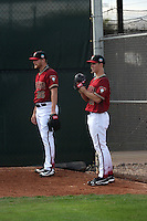 Shelby Miller (left), Zack Greinke (right), - Arizona Diamondbacks 2016 spring training (Bill Mitchell)