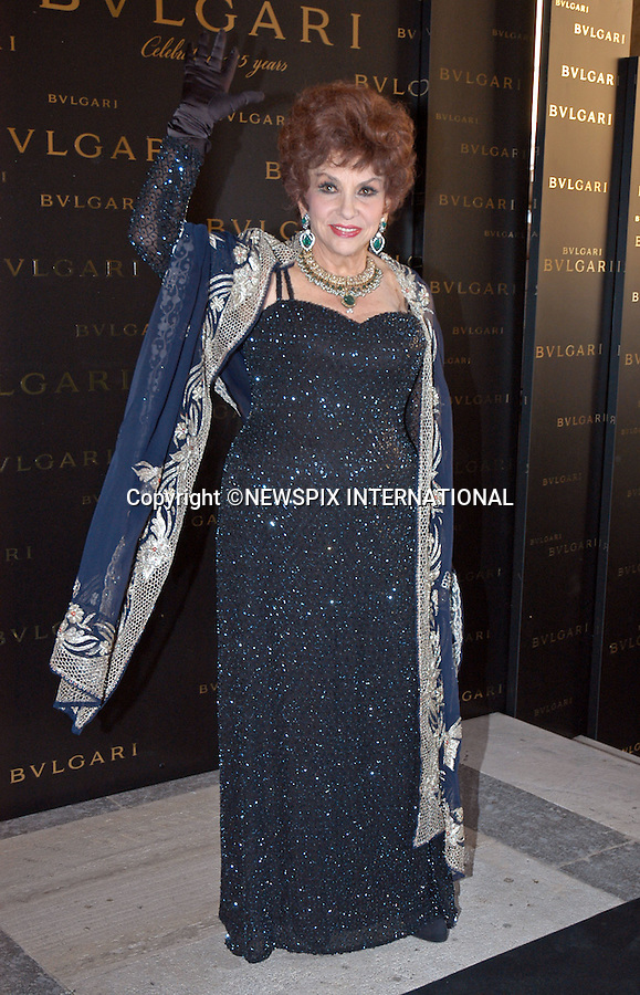 "GINA LOLLOBRIGIDA.at Bulgari's 125th Anniversary Dinner, Castel Sant'Angelo, Rome_20/05/2009.Mandatory Credit Photo: ©NEWSPIX INTERNATIONAL..**ALL FEES PAYABLE TO: ""NEWSPIX INTERNATIONAL""**..IMMEDIATE CONFIRMATION OF USAGE REQUIRED:.Newspix International, 31 Chinnery Hill, Bishop's Stortford, ENGLAND CM23 3PS.Tel:+441279 324672  ; Fax: +441279656877.Mobile:  07775681153.e-mail: info@newspixinternational.co.uk"
