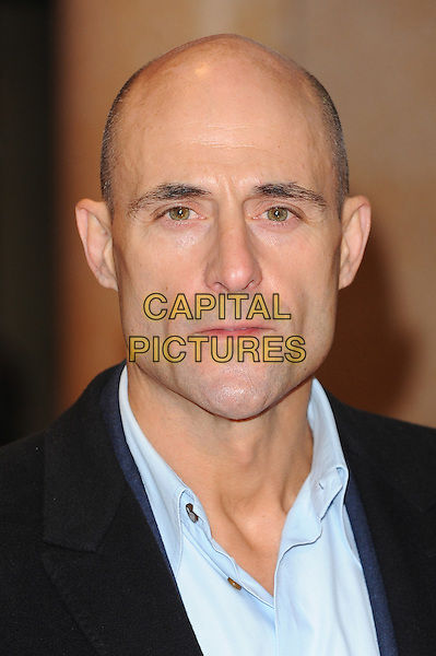 Mark Strong.attends the UK Premiere of 'I Give It A Year', Vue West End cinema, London, England, UK, 24th January 2013..portrait headshot black coat shirt blue .CAP/BEL.©Tom Belcher/Capital Pictures.