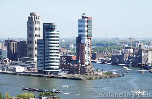 Nederland Rotterdam  2018. Hoogbouw op de Wilhelminapier.  Foto Berlinda van Dam / Hollandse Hoogte