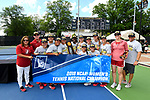 WINSTON SALEM, NC - MAY 22: The Stanford Cardinal celebrates their victory over the Vanderbilt Commodores during the Division I Women's Tennis Championship held at the Wake Forest Tennis Center on the Wake Forest University campus on May 22, 2018 in Winston Salem, North Carolina. Stanford defeated Vanderbilt 4-3 for the national title. (Photo by Jamie Schwaberow/NCAA Photos via Getty Images)