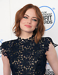 Emma Stone<br />  attends 2015 Film Independent Spirit Awards held at Santa Monica Beach in Santa Monica, California on February 21,2015                                                                               © 2015Hollywood Press Agency
