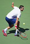 Marin Cilic (CRO) defeats Jeremy Chardy (FRA) 6-3, 2-6, 7-6, 6-1 at the US Open in Flushing, NY on September 6, 2015.