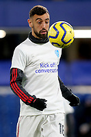 Bruno Fernandes of Manchester United warms up ahead of kick-off during Chelsea vs Manchester United, Premier League Football at Stamford Bridge on 17th February 2020