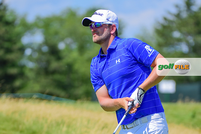 Bernd Wiesberger (AUT) watches his tee shot on 12 during Thursday's round 1 of the 117th U.S. Open, at Erin Hills, Erin, Wisconsin. 6/15/2017.<br /> Picture: Golffile   Ken Murray<br /> <br /> <br /> All photo usage must carry mandatory copyright credit (&copy; Golffile   Ken Murray)