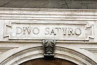 Dettaglio esternaoella Chiesa di San Satiro a Milano.<br /> Exterior detail of the church of San Satiro in Milan.<br /> UPDATE IMAGES PRESS/Riccardo De Luca