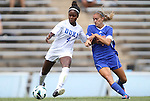 26 August 2012: Duke's Natasha Anasi (4) and Florida's Jillian Graff (right). The University of Florida Gators defeated the Duke University Blue Devils 3-2 in overtime at Fetzer Field in Chapel Hill, North Carolina in a 2012 NCAA Division I Women's Soccer game.