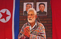 Harpal Brar Chairman CPGB-ML welcomes His Excellency Mr. Hyon Hak Bong Ambassador to UK of the DPR Korea at an Kim Il-sung birth Commemoration attendance .and uses the occassion to speak of the present Korean Crisis whipped up by US Imperialism Saklatvala Hall Southall 14th April 2013.