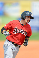 Birmingham Barons outfielder Michael Earley #9 during a game against the Chattanooga Lookouts on April 17, 2013 at AT&T Field in Chattanooga, Tennessee.  Chattanooga defeated Birmingham 5-4.  (Mike Janes/Four Seam Images)
