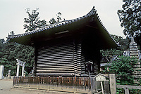 Nara: Kaizando, triangular logs of cypress--next to Sangatsu Temple. Photo '81.