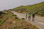 Bicyclists on Highway One, Santa Cruz County coast, California