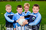 Eoin Walsh, Jamie Quirke, kalem Browne, and Sean O'Sullivan at the Firies GAA football academy in Farranfore on Friday evening