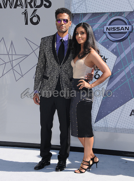 26 June 2016 - Los Angeles. Eric Benet, Manuela Testolini. Arrivals for the 2016 BET Awards held at the Microsoft Theater. Photo Credit: Birdie Thompson/AdMedia
