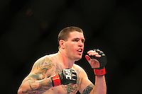 Oct. 29, 2011; Las Vegas, NV, USA; UFC fighter Chris Camozzi during a middleweight bout during UFC 137 at the Mandalay Bay event center. Mandatory Credit: Mark J. Rebilas-