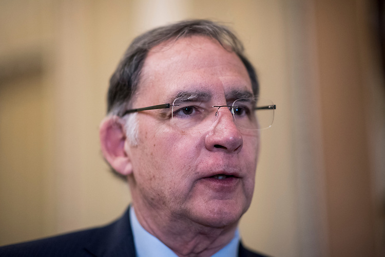 UNITED STATES - MARCH 6: Sen. John Boozman, R-Ark.,  speaks with reporters in the Ohio Clock Corridor on Tuesday, March 6, 2018. (Photo By Bill Clark/CQ Roll Call)
