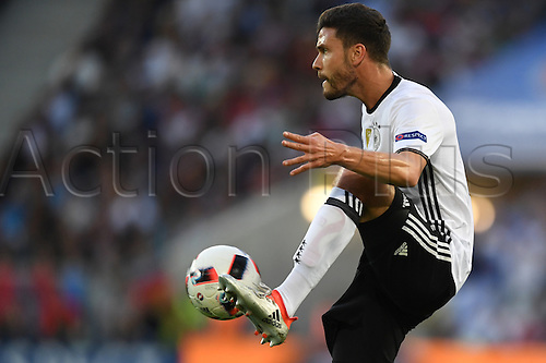 02.07.2016. Bordeaux, France.  Germany's Jonas Hector in action during the UEFA EURO 2016 quarter final  match between Germany and Italy at the Stade de Bordeaux in Bordeaux, France, 02 July 2016.