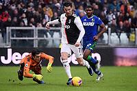 Stefano Turati of US Sassuolo , Cristiano Ronaldo of Juventus <br /> Torino 1-12-2019 Juventus Stadium <br /> Football Serie A 2019/2020 <br /> Juventus FC - US Sassuolo 2-2 <br /> Photo Federico Tardito / Insidefoto