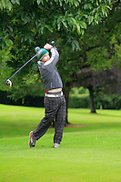 David McMahon (Tralee) on the 3rd tee during round 1 of The Mullingar Scratch Cup in Mullingar Golf Club on Sunday 3rd August 2014.<br /> Picture:  Thos Caffrey / www.golffile.ie