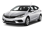 2020 Opel Astra Edition 5 Door Hatchback Angular Front automotive stock photos of front three quarter view