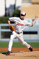 February 28 2010: Thomas Keeling of Oklahoma State during game against Vanderbilt at Dodger Stadium in Los Angeles,CA.  Photo by Larry Goren/Four Seam Images