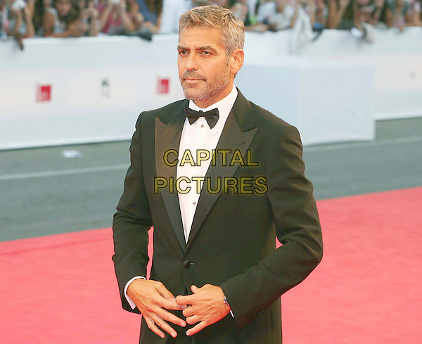 "GEORGE CLOONEY .""Michael Clayton"" premiere screening, .64th Venice Film Festival, Italy, 31st August 2007..La Biennale di Venezia half length black bow tie beard stubble grey hair tuxedo suit .CAP/OME.©Luca Ghidoni/Omega/Capital Pictures."