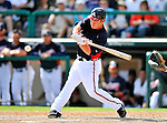 8 March 2011: Atlanta Braves outfielder Matt Young in action during a Spring Training game against the New York Yankees at Champion Park in Orlando, Florida. The Yankees edged out the Braves 5-4 in Grapefruit League action. Mandatory Credit: Ed Wolfstein Photo