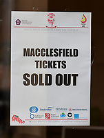 A sign on Lincoln City's ticket office window reads: &quot;Macclesfield tickets sold out&quot;<br /> <br /> Photographer Chris Vaughan/CameraSport<br /> <br /> Vanarama National League - Lincoln City v Macclesfield Town - Saturday 22nd April 2017 - Sincil Bank - Lincoln<br /> <br /> World Copyright &copy; 2017 CameraSport. All rights reserved. 43 Linden Ave. Countesthorpe. Leicester. England. LE8 5PG - Tel: +44 (0) 116 277 4147 - admin@camerasport.com - www.camerasport.com