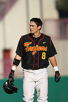 March 16 2009: Anthony Vasquez of the USC Trojans during game against the Winthrop Eagles at Dedeaux Field in Los Angeles,CA.  Photo by Larry Goren/Four Seam Images