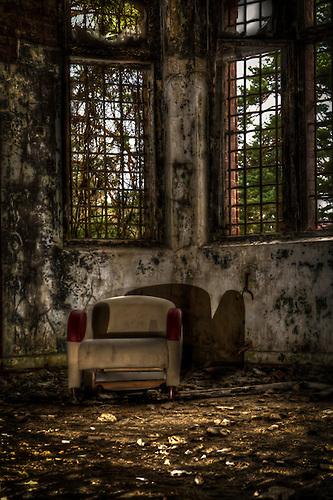 Sofa in an old hosptial near Berlin