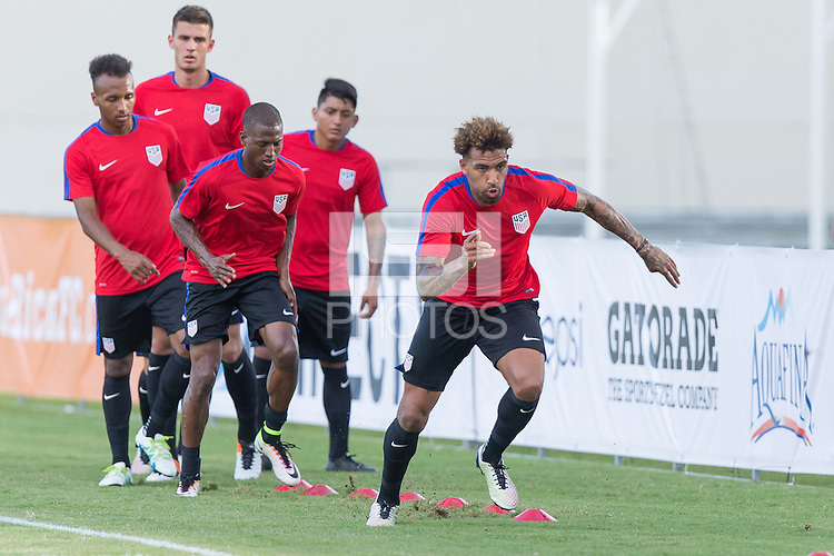 San Juan, Puerto Rico - May 21, 2016: The USMNT train in preparation for their friendly match versus Puerto Rico at Juan Ramon Loubriel Stadium.
