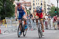 Sanchez of Sapin during the 2017 Madrid ITU Triathlon World Cup in Madrid, May 28, 2017. Spain.. (ALTERPHOTOS/Rodrigo Jimenez) /NortePhoto.com