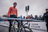 Mathieu van der Poel (NED/Corendon-Circus) at the start<br /> <br /> Elite Men's Race<br /> UCI CX Worlds 2018<br /> Valkenburg - The Netherlands