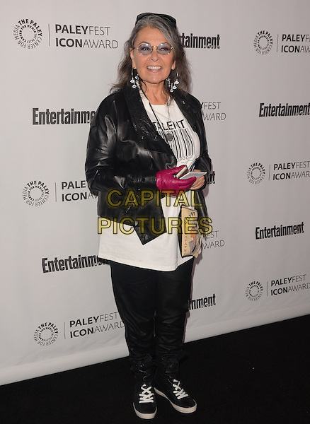 10 March 2014 - Beverly Hills, California - Rosanne Barr.  Judd Apatow receives the 2014 Paleyfest Icon Award at The Paley Center for Media in Beverly Hills. <br /> CAP/ADM/BT<br /> &copy;Birdie Thompson/AdMedia/Capital Pictures