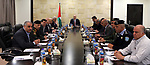 Palestinian Prime Minister, Rami Hamdallah, meets with leaders of the Security establishment, in the West Bank city of Ramallah on March 11, 2018. Photo by Prime Minister Office