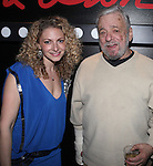 Lauren Molina and Stephen Sondheim attend the opening night performance reception for the Keen Company production of Marry Me A Little at the Clurman Theatre in New York City on10/2/2012.