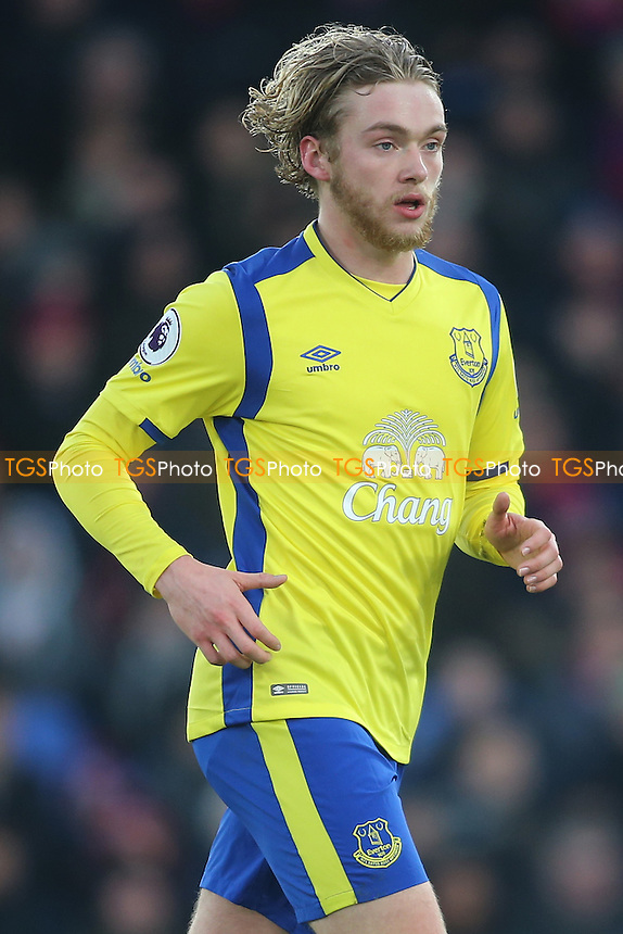 Tom Davies of Everton during Crystal Palace vs Everton, Premier League Football at Selhurst Park on 21st January 2017