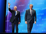 Washington, DC - March 5, 2018: U.S. Reps. Steny Hoyer and Kevin McCarthy enter the ballroom before addressing attendees of the 2018 American Israel Public Affairs Committee (AIPAC) Policy Conference at the Washington Convention Center March 5, 2018.  (Photo by Don Baxter/Media Images International)