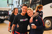 Cleveland, Ohio - Tuesday June 12, 2018: Ashlyn Harris, Megan Rapinoe during an international friendly match between the women's national teams of the United States (USA) and China PR (CHN) at FirstEnergy Stadium.