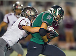 Torrance, CA 10/09/15 - Trevor Talpas (South #8) in action during the Torrance vs South High varsity football game.  South defeated Torrance 24-21.