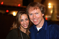 (L-R) Almudena Cid of Spain with photographer Tom Theobald posing at banquet after World Championships at Baku, Azerbaijan on October 9, 2005.  Photo by Azerbaijan press photographer.  (Photo note: Well, ummmm is me in photo on right:)   I am sorry the photographer is not identified...he was just next to me and I asked for little help, set the image up and gave him camera.  Even bigger surprise was 15min later when Almudena asked for same photo for her camera.  This will very likely be the last photo of this gallery to be posted.  Hope you enjoy and cheers! Tom)