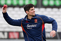 Alastair Cook throws the ball during Essex CCC Pre-Season Practice at The Cloudfm County Ground on 5th March 2018