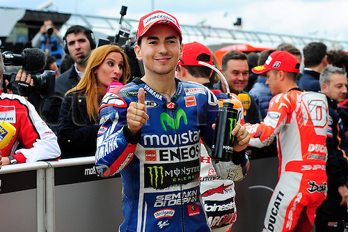 30.08.2014.  Silverstone, England. MotoGP. British Grand Prix. Jorge Lorenzo (movistar yamaha Team)during the qualifying sessions.