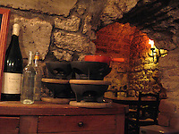 Fondue served in an old Parisian cellar
