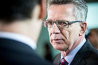 Innenminister Thomas de Maizi&egrave;re (CDU) nimmt am Mittwoch (11.11.15) in Berlin an der Kabinettssitzung teil.<br /> Foto: Axel Schmidt/CommonLens