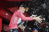 Steven Kruijswijk (NLD/LottoNL-Jumbo) 'pops'<br /> <br /> stage 15 (iTT): Castelrotto-Alpe di Siusi 10.8km<br /> 99th Giro d'Italia 2016