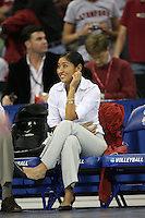 16 December 2006: Stanford Cardinal director of women's volleyball operations Cobey Shoji during Stanford's 30-27, 26-30, 28-30, 27-30 loss against the Nebraska Huskers in the 2006 NCAA Division I Women's Volleyball Final Four Championship match at the Qwest Center in Omaha, NE.