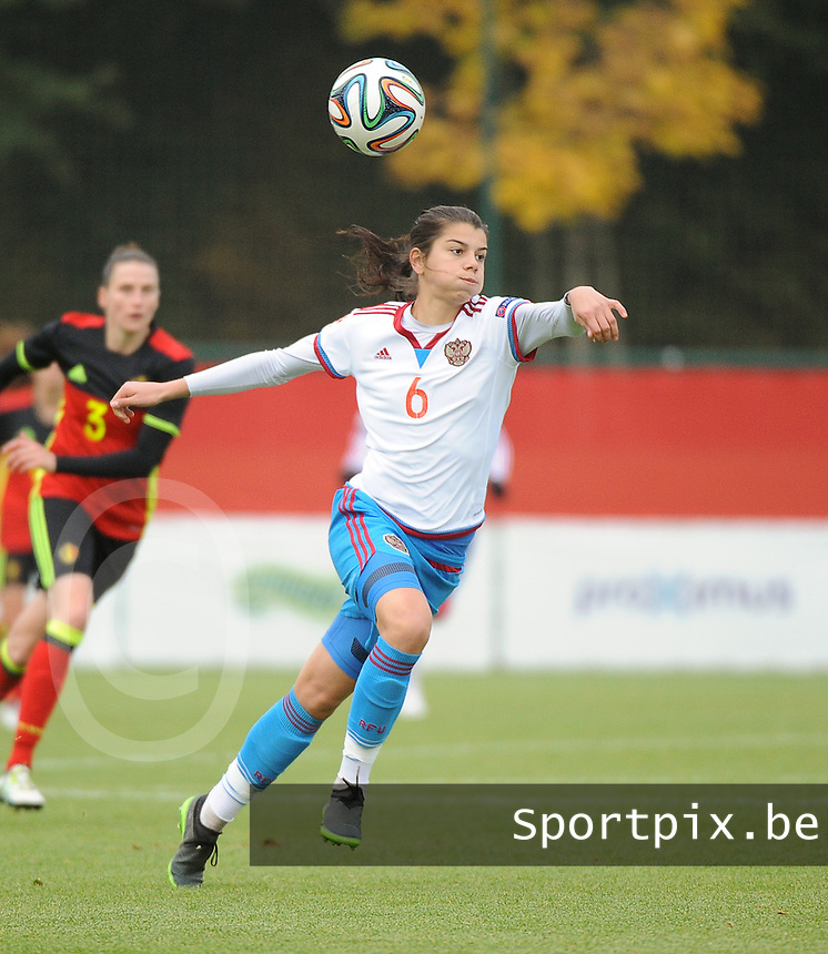20161023 - TUBIZE , BELGIUM : Russian Nadezhda Karpova pictured during a friendly game between the women teams of the Belgian Red Flames and Russia at complex Euro 2000 in Tubize , Sunday 23 October 2016 ,  PHOTO Dirk Vuylsteke | Sportpix.Be