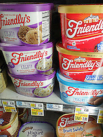 Containers of Friendly's brand ice cream in a supermarket freezer in New York on Tuesday, May 10, 2016. Dean Foods, the largest U.S. milk processor, is buying Friendly's ice cream for $155 million. The Friendly's restaurants are not part of the deal. (© Richard B. Levine)